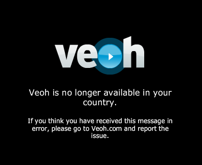Veoh limita sus servicios en colombia y paises de latinoamerica 1