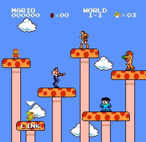 Nuevo Juego De Mario Bros Crossover Online Con La Ayuda De Contra Y