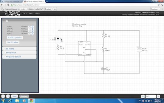 Nuevo simulador de circuitos electrónicos online gratis